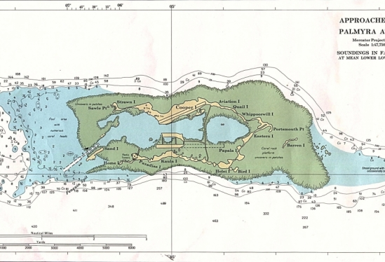 Nautical chart of Palmyra Atoll