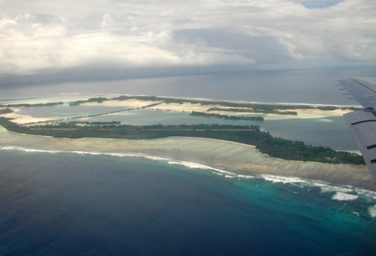 Aerial view of Palmyra Atoll