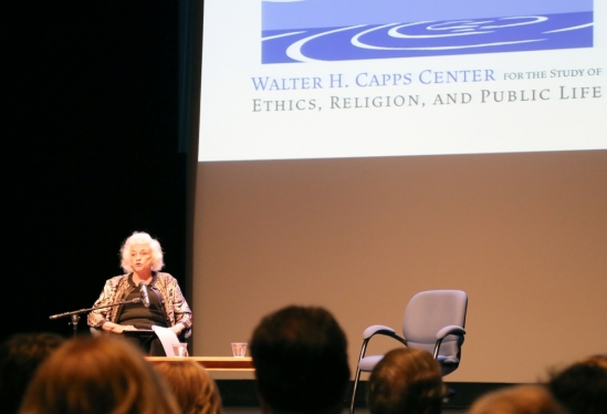 Sandra Day O'Connor speaks in Campbell Hall