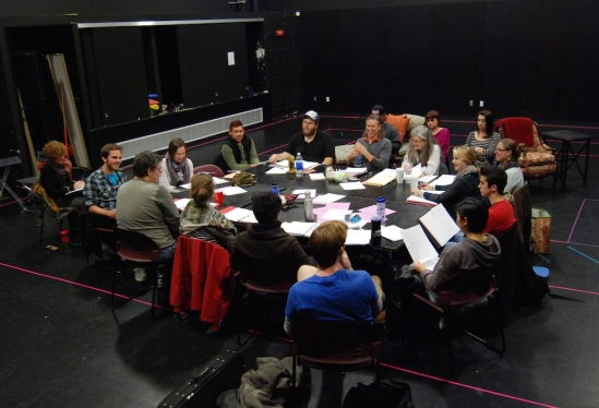 "The full company discusses ""Appoggiatura"""