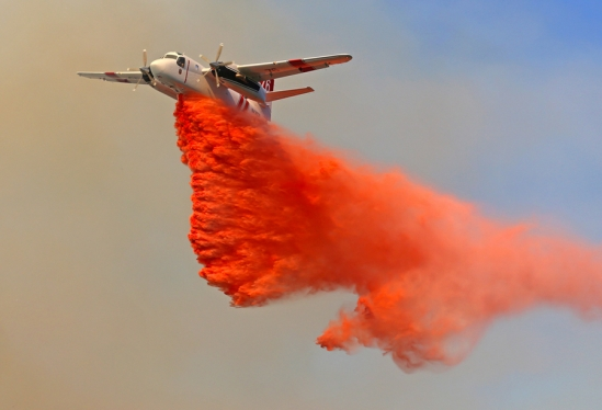 Photo of Forest Service Tanker during Lookout Fire