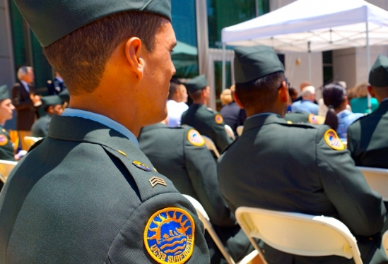 UCSB ROTC Surfriders closeup