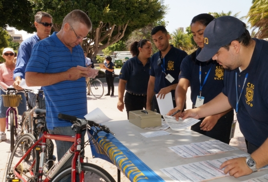 photo of bikes being registered