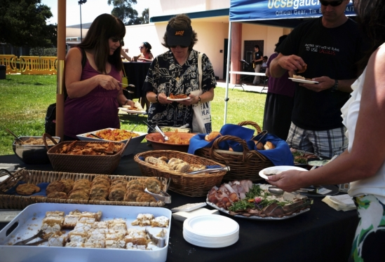 photo of food at the Staff Social