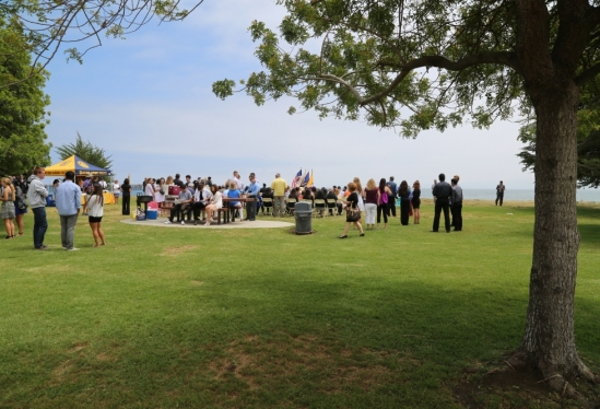 UCSB ROTC 2014 ceremony crowd