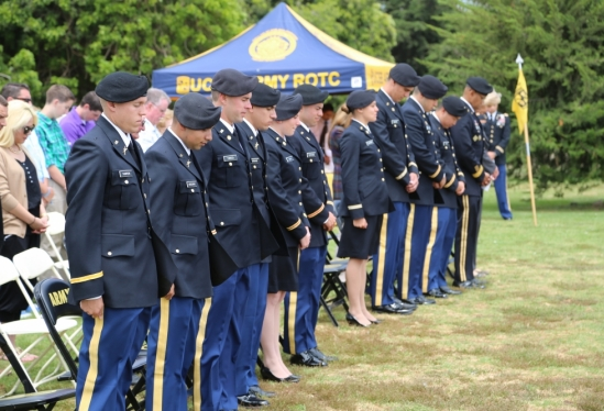 UCSB ROTC 2014 Commissioning - heads down