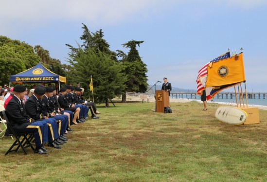 LTC George Davis to UCSB ROTC 2014 commissioning class