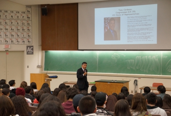 Antonio Cárdenas speaks at UCSB's Education, Leadership, and Careers Conference