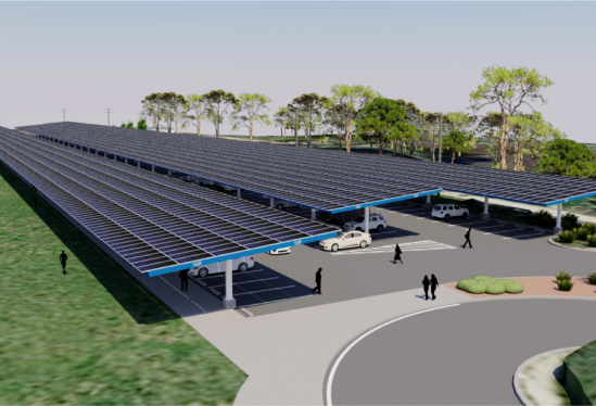 Rendering of proposed solar for Lot 38