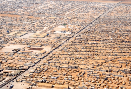 Aerial view of Za'atari refugee camp