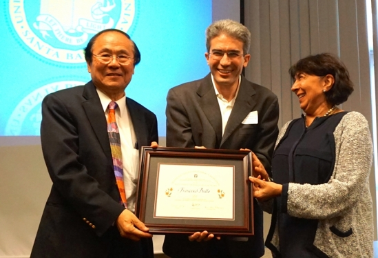 Chancellor Yang, Francesco Bullo and Kum Kum Bhavnani