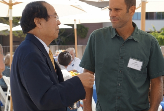 Jack Johnson and Chancellor Henry T. Yang
