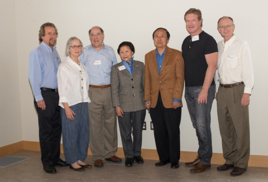 Chancellor Yang and UCSB dignitaries with Kate and Paul Page