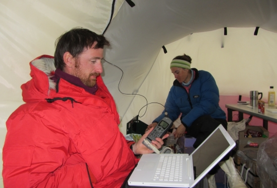 John Cottle in Antarctica
