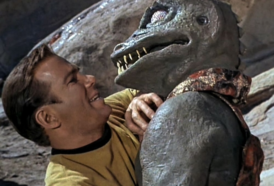 Jim Kirk and Gorn