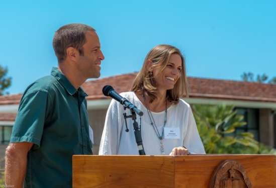 Kim and Jack Johnson at UCSB