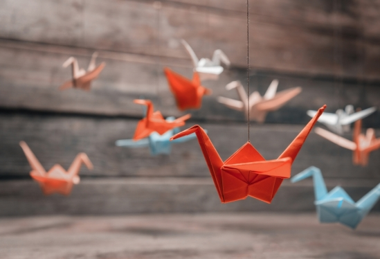 An interesting take on the traditional origami crane. Here, the ... | 374x549