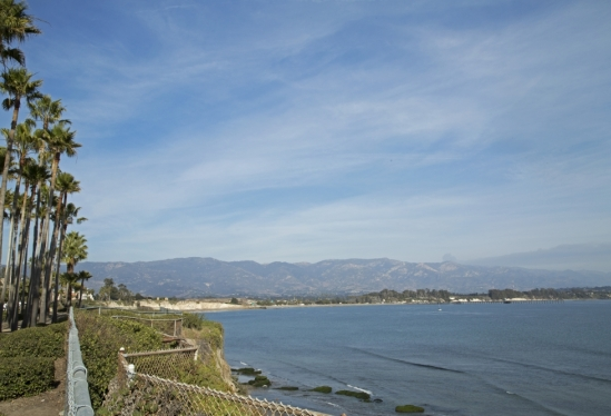 View from UCSB cliffs looking toward Goleta Beach Dec. 18, 2017