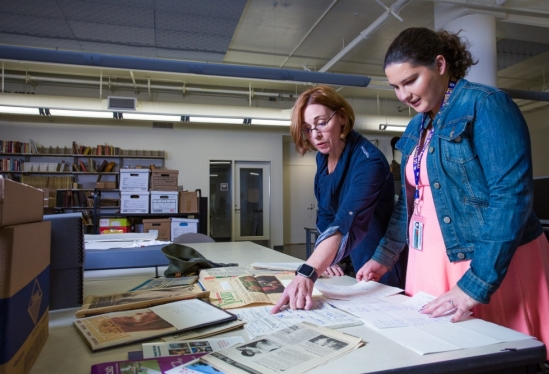 UCSB Library's Danelle Moon and Carla Altomare take closer look at Capps papers