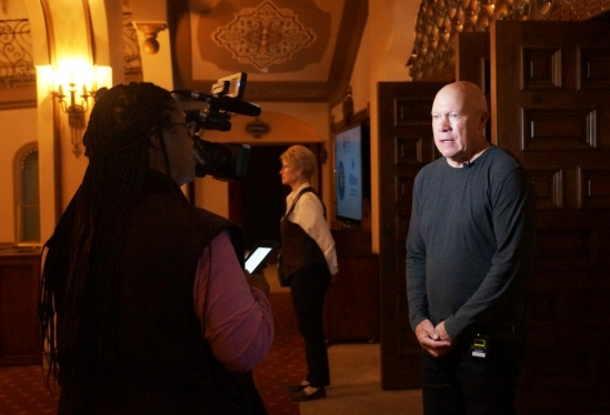 Peter Rupert in front of camera