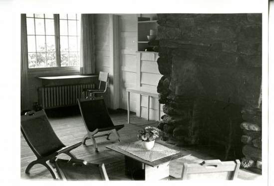 Living room of Anni and Josef Albers with handmade wood furniture
