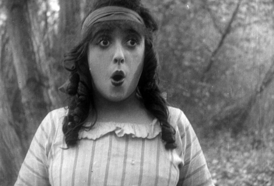 "Mabel Normand in ""Won In A Cupboard"""