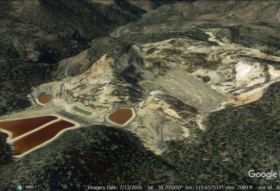 Leviathan Mine aerial shot from Google Earth
