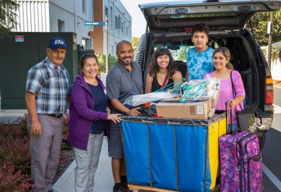 Three generations of family move in UC Santa Barbara student for fall 2018