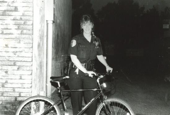 Cathy Farley as an IV Foot Patrol officer in 1992