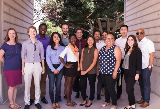 2018 UC LEADS scholars at UCSB, with Graduate Division staff