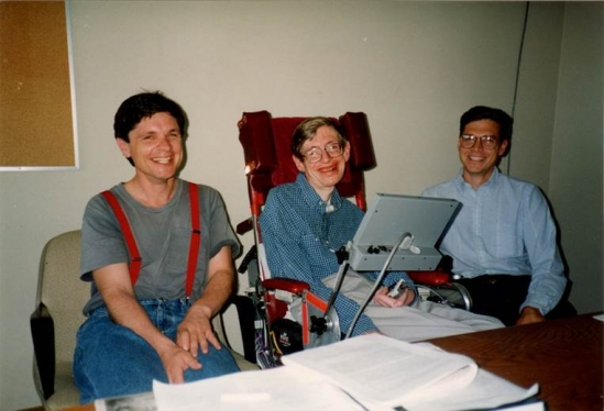 Physicists Andy Strominger, Stephen Hawking and Gary Horowitz