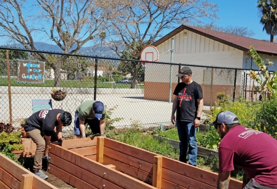 Lending a hand to the Harding University Partnership School garden