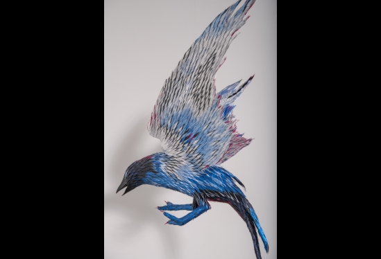 Roberto Benavidez, Blue Bird with Silver Wings (Bosch Bird No. 6)
