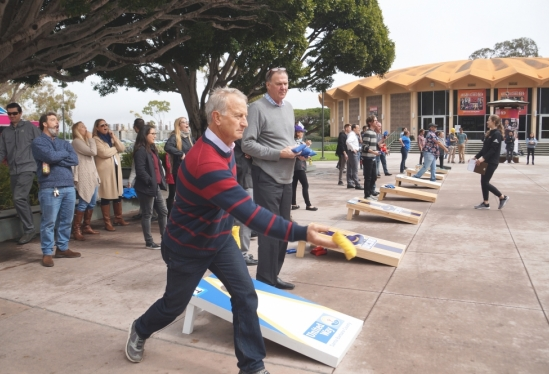 Bean bag toss tournament raises dollars for United Way