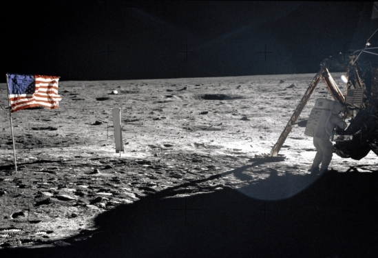 Astronaut Neil Armstrong on the Moon