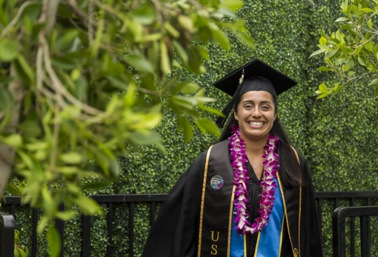 One of UCSB's newest alumni at 2019 Commencement