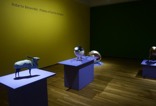 Gallery view of Roberto Benavidez exhibition at UCSB Art, Design & Architecture Museum