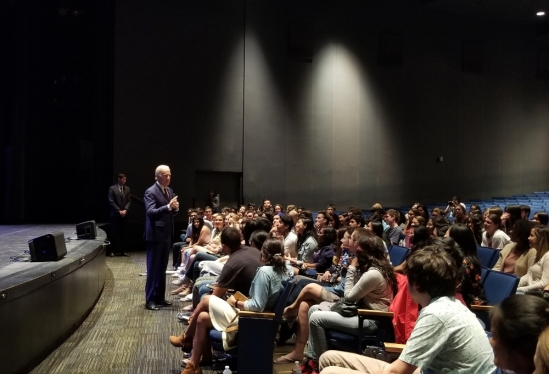 Future President Joe Biden meets with UCSB students in 2017
