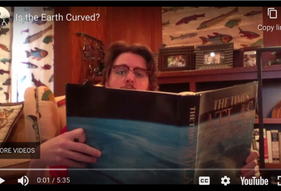 physics graduate student proves the curvature of the Earth