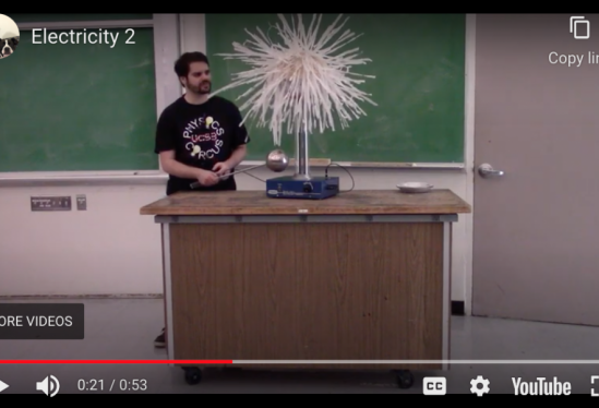 physics graduate student demonstrates how electricity works