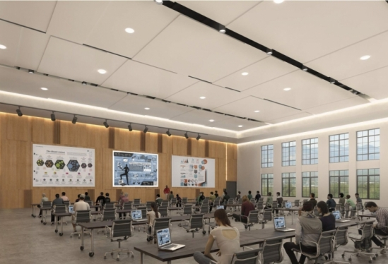 Artist's rendering of a multipurpose academic space in Munger Hall at UCSB