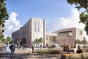 Rendering of exterior of new classroom building at UCSB