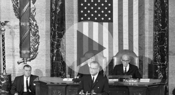 President Johnson's State of the Union address, 1964. Made available online courtesy of the LBJ Presidential Library.