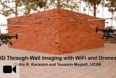 Researchers at UCSB develop a method for  three-dimensional through-wall imaging using drones and WiFi signal