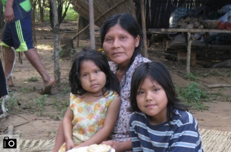 Tsimane mother and children