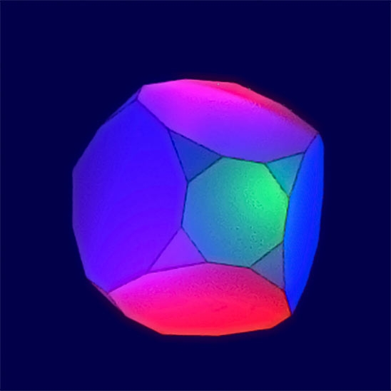 Low-dimensional topology studies manifolds like this hyperbolic 3-D version.