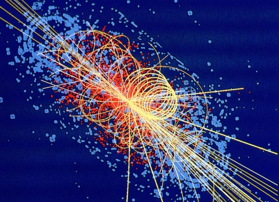 image of a simulation of the Higgs boson