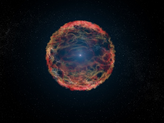 An artist's impression of a supernova