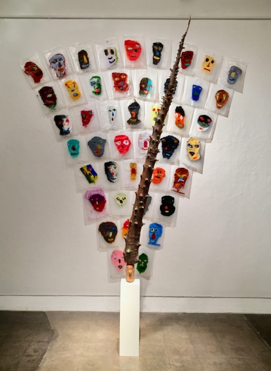 A piece by Dane Goodman displayed in UCSB's College of Creative Studies