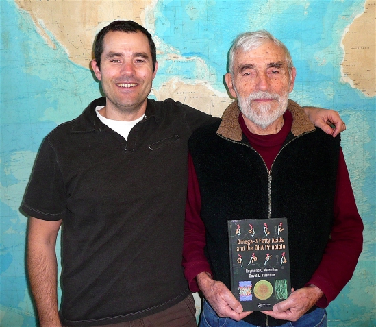 Co-authors David L. Valentine, left, and his father, Raymond C. Valentine.